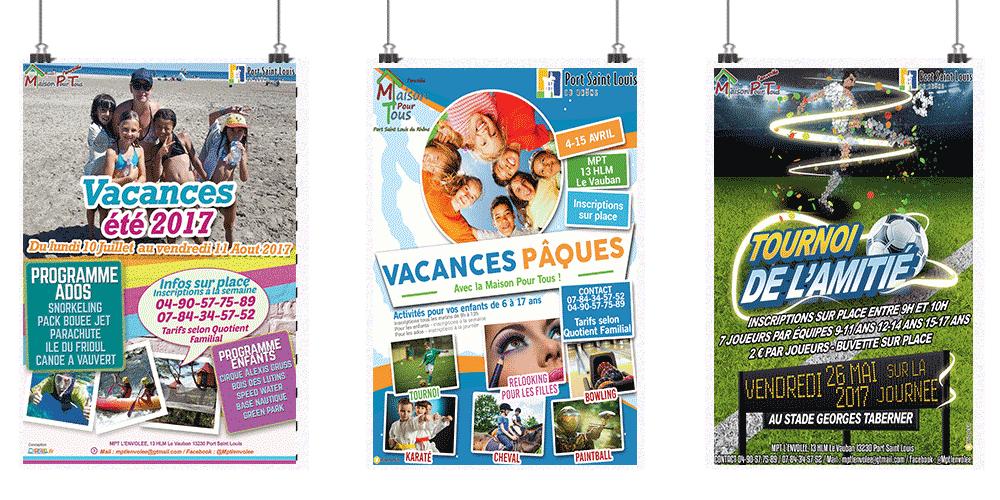 Création d'affiche, flyers